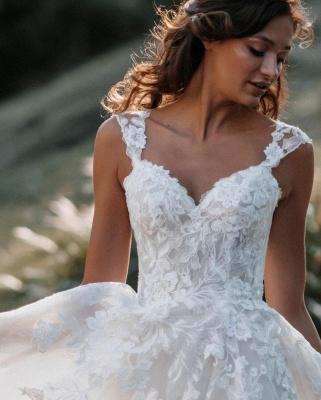 Robes de mariée Boho Une ligne de dentelle | Robes de mariée pas cher en ligne_3