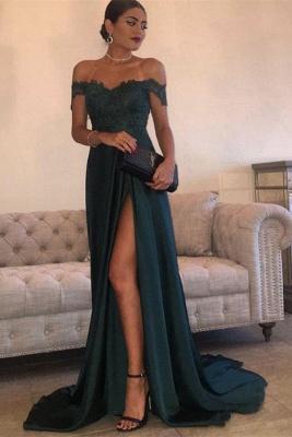 Forme Princesse Longueur ras du sol Epaules Nus Robes de soirée pour mariage avec Dentelle_2