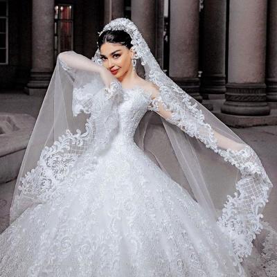 Robes de mariée princesse en ligne | Robes de mariée à manches_3