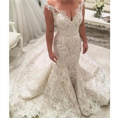 Robe de mariée sirène décolleté V | Robes de mariée avec dentelle_2