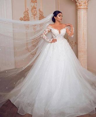 Belles robes de mariée à manches   Robe de mariée en dentelle princesse_2