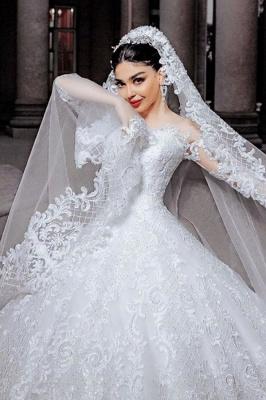 Robes de mariée princesse en ligne | Robes de mariée à manches_1