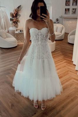 Robes de mariée élégantes courtes | Robes De Mariée Crema Pas Cher En Ligne