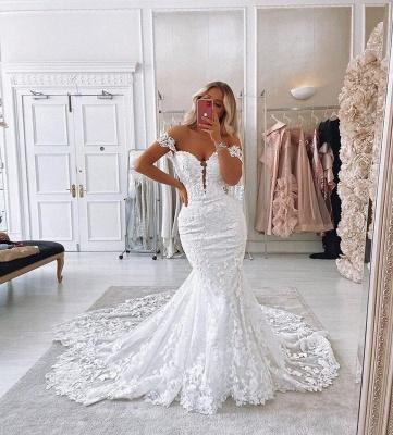 Robes de mariée de créateur sirène | Dentelle De Mariée en ligne_3