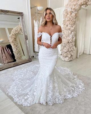 Robes de mariée de créateur sirène | Dentelle De Mariée en ligne_2