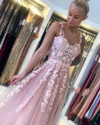 Magnifiques Robes de Soirée Longues Rose | Robes de bal avec dentelle_5