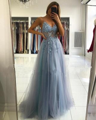Robes de soirée de luxe bleu | Robes de bal longues paillettes_2