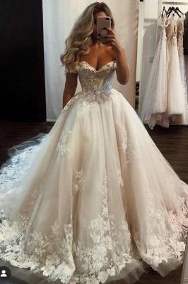 Robes de mariée Une ligne avec de la dentelle | Modes de mariage en ligne_1