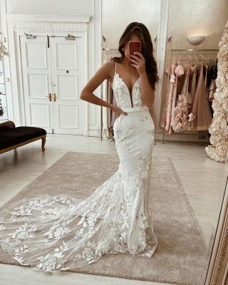 Robes de mariée élégantes avec de la dentelle | Robe De Mariée Sirène en ligne_2