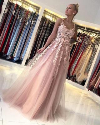 Magnifiques Robes de Soirée Longues Rose | Robes de bal avec dentelle_2