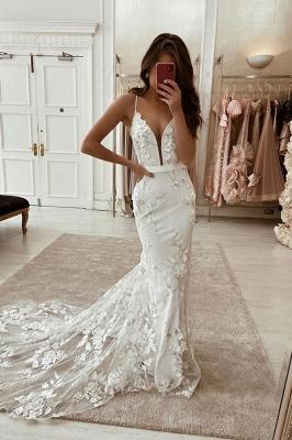 Robes de mariée élégantes avec de la dentelle | Robe De Mariée Sirène en ligne