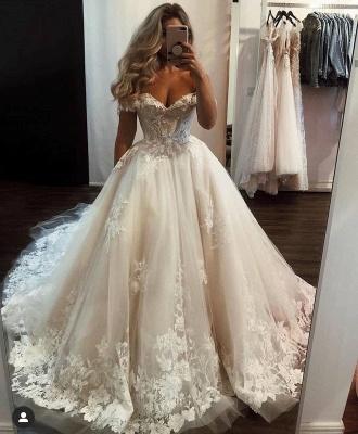Robes de mariée Une ligne avec de la dentelle | Modes de mariage en ligne_2