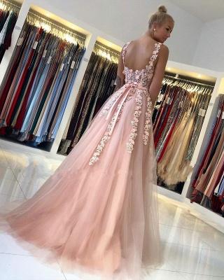 Magnifiques Robes de Soirée Longues Rose | Robes de bal avec dentelle_3