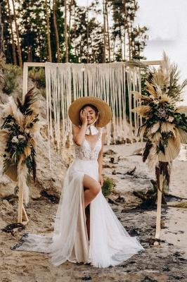 Superbes robes de mariée en dentelle | Robes de mariée simples en tulle_4