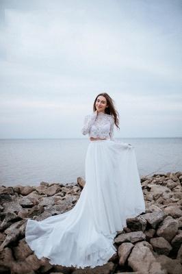 Robes de mariée de créateurs avec manches   Tenue de mariée avec dentelle_6