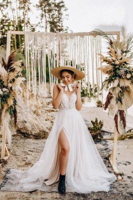 Superbes robes de mariée en dentelle | Robes de mariée simples en tulle_2