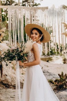 Superbes robes de mariée en dentelle | Robes de mariée simples en tulle_6