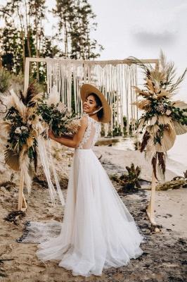 Superbes robes de mariée en dentelle | Robes de mariée simples en tulle_3