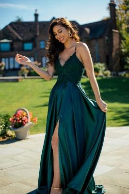 Robes de soirée simples vertes | Robes de bal longues pas cher