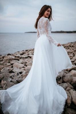 Robes de mariée de créateurs avec manches   Tenue de mariée avec dentelle_7
