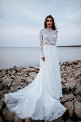 Robes de mariée de créateurs avec manches   Tenue de mariée avec dentelle_1