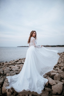 Robes de mariée de créateurs avec manches   Tenue de mariée avec dentelle_4