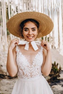 Superbes robes de mariée en dentelle | Robes de mariée simples en tulle_5