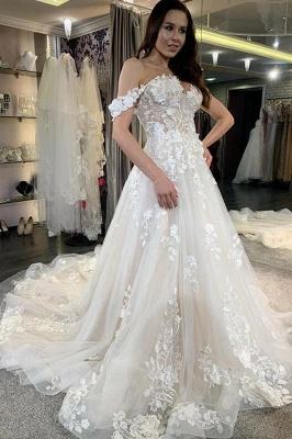 robe de mariée blanche à linie | robe de mariée en dentelle