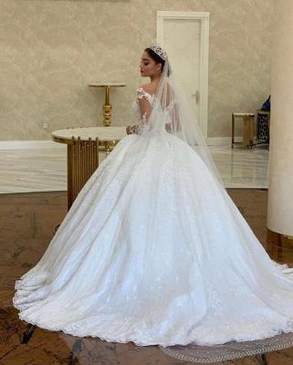Robes de mariée extravagantes princesse | Robe de mariée avec dentelle à manches longues_2