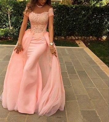 Forme Sirène/Trompette Longueur ras du sol Col U profond robe de cérémonie rose_3