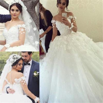 Forme Marquise alayage/Pinceau train Col U profond Robes de mariée 2020 avec Appliques_2