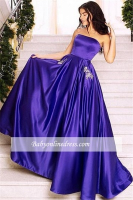Robe de bal princesse moderne avec poche | Robe de soirée princesse sans manches_1