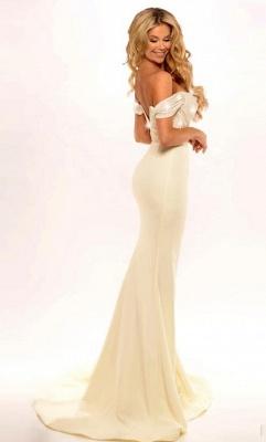 Forme sirène robe demoiselle d'honneur bretelle ruché longueur sol couleurs au choix_2