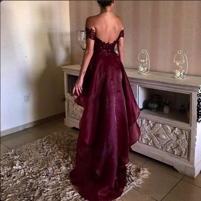 Forme Princesse Traîne asymétrique Epaules nues Robes de bal 2021 avec Dentelle_3