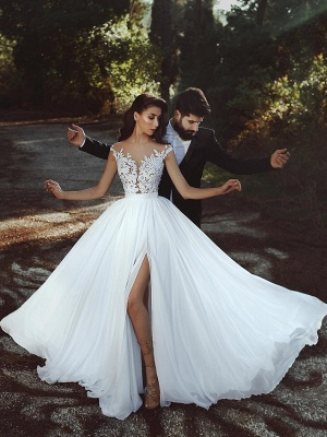 robe de mariée 2021   robe de mariée élégante MM0199_2