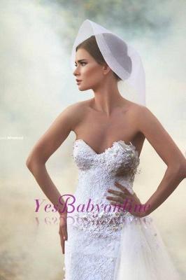 Forme Princesse Longueur ras du sol Col en cœur Tulle Robes de mariée 2021 avec Appliques_1