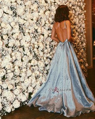 Forme Princesse alayage/Pinceau train Bretelles spaghetti Robes de bal 2021 avec Cristal_1