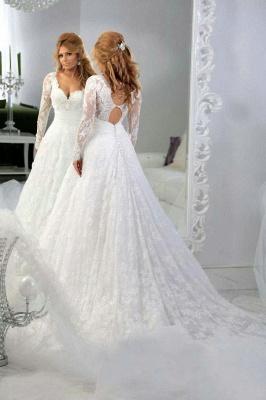 Forme Princesse Traîne moyenne Col en cœur Dentelle Robes de mariée avec Perle_2