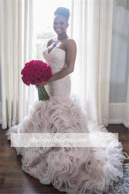 Robe de mariée sirène orgenza sublime | Robe de mariage trompette col en cœur_1