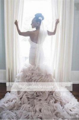 Robe de mariée sirène orgenza sublime | Robe de mariage trompette col en cœur_2