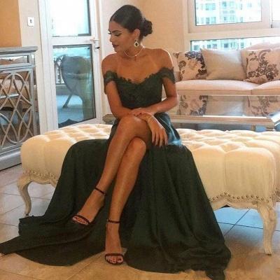 Forme Princesse Longueur ras du sol Epaules Nus Robes de soirée pour mariage avec Dentelle_4