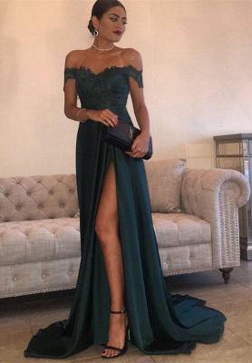 Forme Princesse Longueur ras du sol Epaules Nus Robes de soirée pour mariage avec Dentelle_1