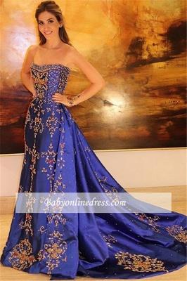 Robe de bal princesse sublime avec appliques | Robe de soirée princesse sans bretelles_2