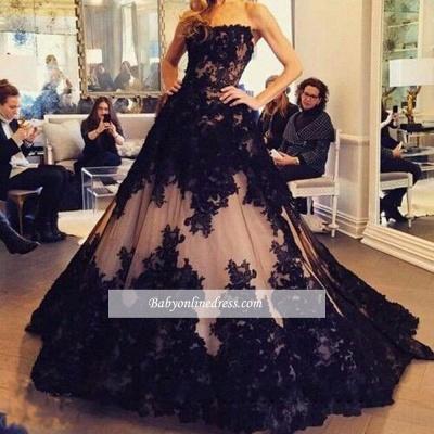Robe de bal princesse dentelle élégante | Robe de soirée princesse sans bretelles_1