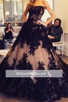 Robe de bal princesse dentelle élégante | Robe de soirée princesse sans bretelles_2