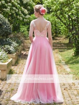 Forme Princesse Longueur ras du sol Avec Bretelles Robes de Demoiselles d'Honneur avec Dentelle_2