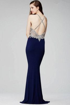 Luxe robe de soirée bretelle fine en cristal et perle couleurs au choix_3