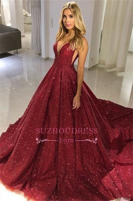 Robe de bal princesse pailletée chic | Robe de soirée princesse col en V_1