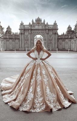 Robe de mariée haute couture | robe de mariée de luxe avec fleur