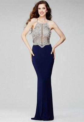 Luxe robe de soirée bretelle fine en cristal et perle couleurs au choix_1